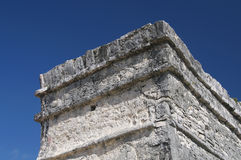 Paredes de Tulum Castillo fotografia de stock royalty free