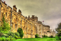 Paredes de Windsor Castle perto de Londres Foto de Stock