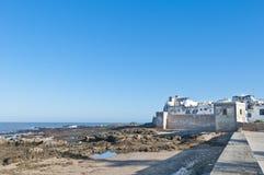 Paredes defensivas de Essaouira, Marrocos Fotografia de Stock