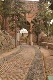 Paredes del Alcazaba foto de archivo