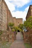 Paredes del Alcazaba imágenes de archivo libres de regalías