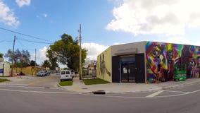 Paredes del arte en Wynwood Miami almacen de video