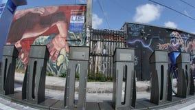Paredes del arte en Wynwood Miami FL 4k almacen de video