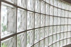 Paredes del bloque de cristal Imagen de archivo libre de regalías