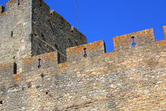 Paredes del castillo Imagenes de archivo