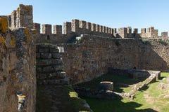 Paredes del castillo de Belver fotos de archivo libres de regalías