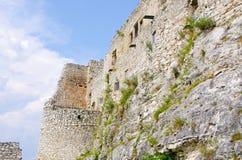 Paredes del castillo de Spissky Hrad, Eslovaquia fotografía de archivo