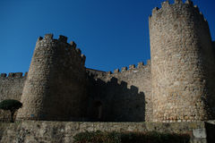 Paredes del castillo en Plasencia fotos de archivo libres de regalías
