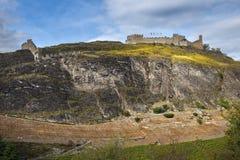 Paredes del castillo Tourbillon, Sion, Suiza Imagen de archivo