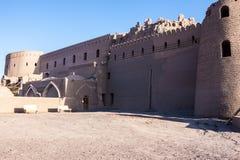 Paredes del fortalecimiento de la ciudadela antigua del Bam imagen de archivo libre de regalías