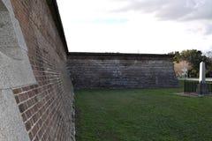 Paredes del fuerte Moultrie foto de archivo libre de regalías