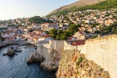 Paredes del oeste de la defensa de Dubrovnik Imagen de archivo
