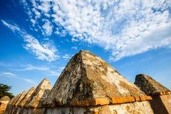 Paredes del patio de Castillo de Gibralfaro Imagenes de archivo