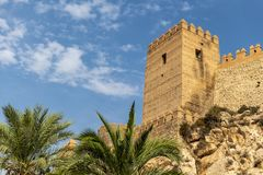 Paredes do Alcazaba de Almeria fotografia de stock royalty free