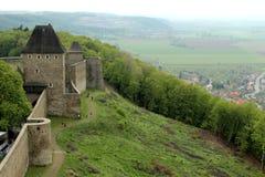 Paredes do castelo - cenário, paisagem Fotos de Stock