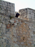 Paredes do castelo de Dubrovnik imagem de stock royalty free