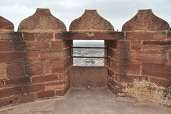 Paredes do forte de Mehrangarh Imagem de Stock