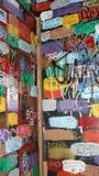 Paredes dos grafittis Fotos de Stock Royalty Free