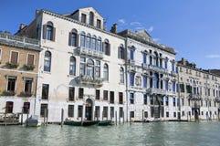 Paredes dos palácios no canal grande em Veneza Imagem de Stock Royalty Free