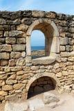 Paredes e janelas velhas Fotografia de Stock