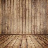 Paredes e tabela de madeira para o texto e o fundo fotos de stock