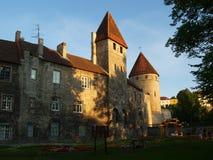 Paredes e torres em Tallinn Foto de Stock