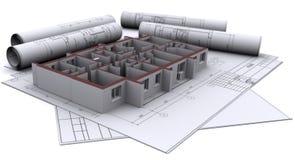 Paredes en gráficos de construcción ilustración del vector