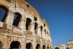 Paredes exteriores de Colosseum Imagem de Stock Royalty Free