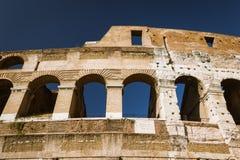 Paredes exteriores de Colosseum Fotos de Stock Royalty Free