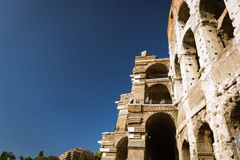 Paredes exteriores de Colosseum Foto de Stock Royalty Free