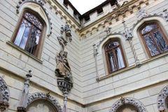 Paredes exteriores de Miclauseni del castillo de Sturdza Fotografía de archivo libre de regalías