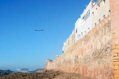 Paredes fortificadas alrededor de Essaouira Fotos de archivo