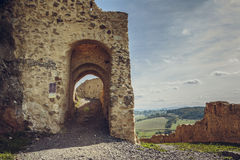 Paredes fortificadas citadela de Rupea Imagem de Stock Royalty Free