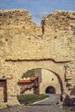 Paredes fortificadas ciudadela de Rupea Foto de archivo libre de regalías