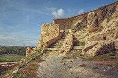 Paredes fortificadas ciudadela de Rupea Fotografía de archivo