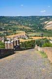 Paredes fortificadas. Orvieto. Úmbria. Itália. Fotografia de Stock