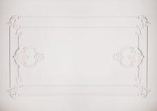 Paredes leves bonitas com quadro arquitetónico Imagens de Stock Royalty Free