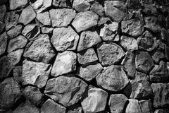 Paredes llenadas para arriba por las rocas Imágenes de archivo libres de regalías