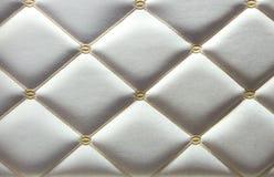 Paredes luxuosos do couro branco Fotos de Stock Royalty Free
