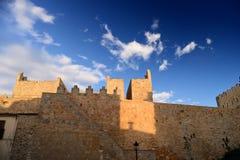 Paredes medievais de Avila fotos de stock