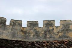 Paredes medievales de la fortaleza Imágenes de archivo libres de regalías