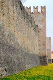 Paredes medievales de Marostica en Vicenza en Véneto (Italia) Imagen de archivo libre de regalías