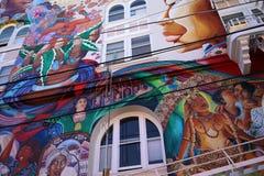 Paredes mexicanas de la casa de mujeres, San Francisco, California, los E.E.U.U. Fotografía de archivo