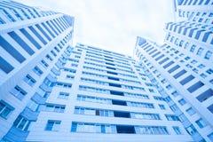 Paredes modernas da construção Fotografia de Stock Royalty Free