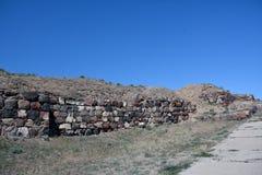 Paredes na fortaleza de Erebuni, Yerevan, Armênia Imagem de Stock