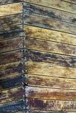 Paredes parafusadas nos testes padrões de madeira Imagem de Stock