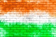 Paredes pintadas con el color de la bandera de la India Foto de archivo