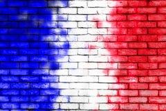 Paredes pintadas con el color francés de la bandera Fotos de archivo libres de regalías