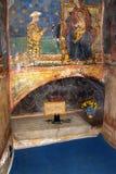 Paredes pintadas en el monasterio del humor, Moldavia, Rumania Imagen de archivo libre de regalías