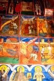 Paredes pintadas en el monasterio del humor, Moldavia, Rumania Fotos de archivo libres de regalías
